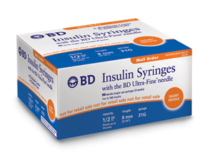 BD Insulin Syringe Western Diabetic Supplies - FREE FedEX